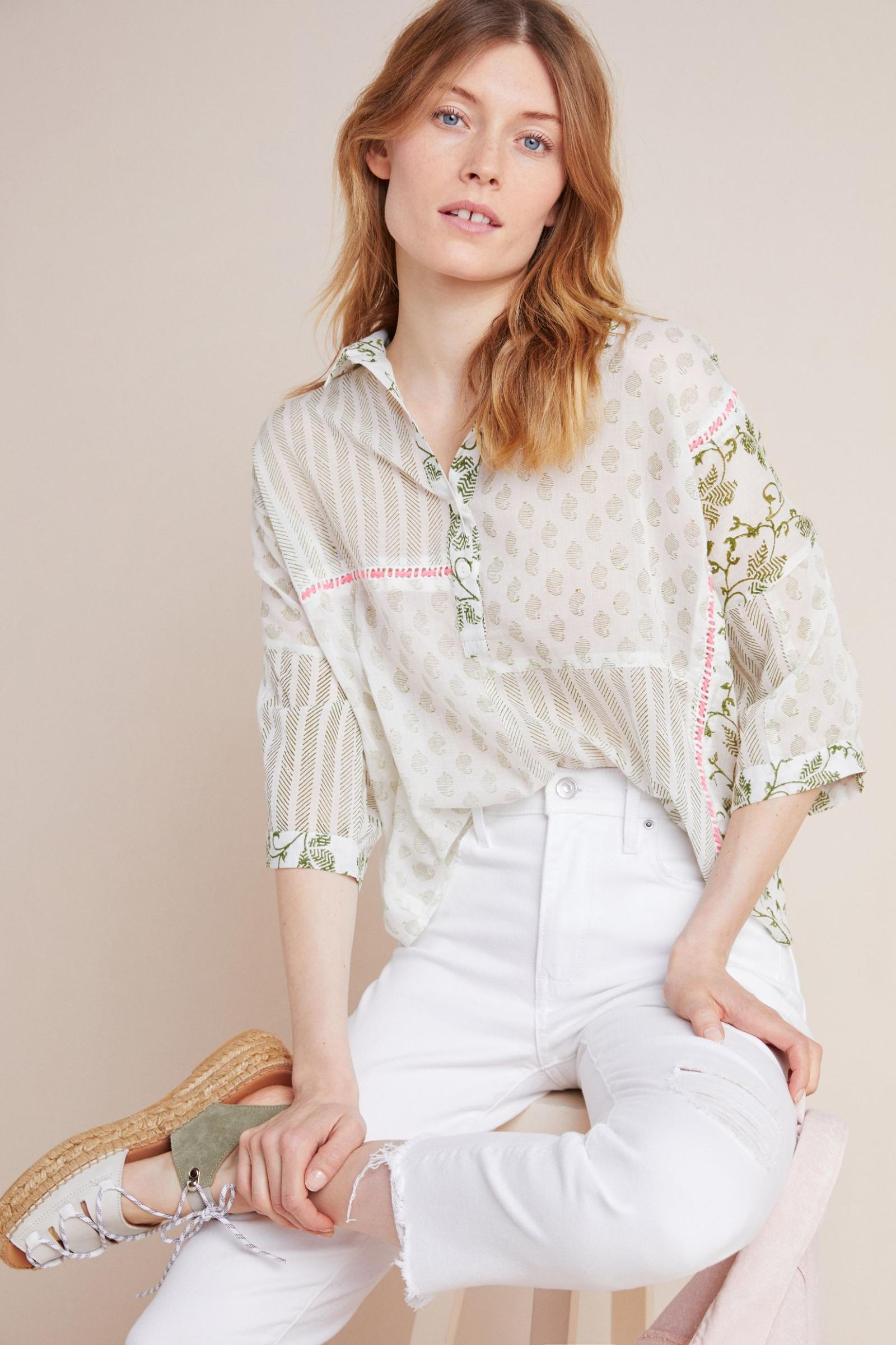 AM.IT by Amit Aggarwal Josefa Henley Blouse