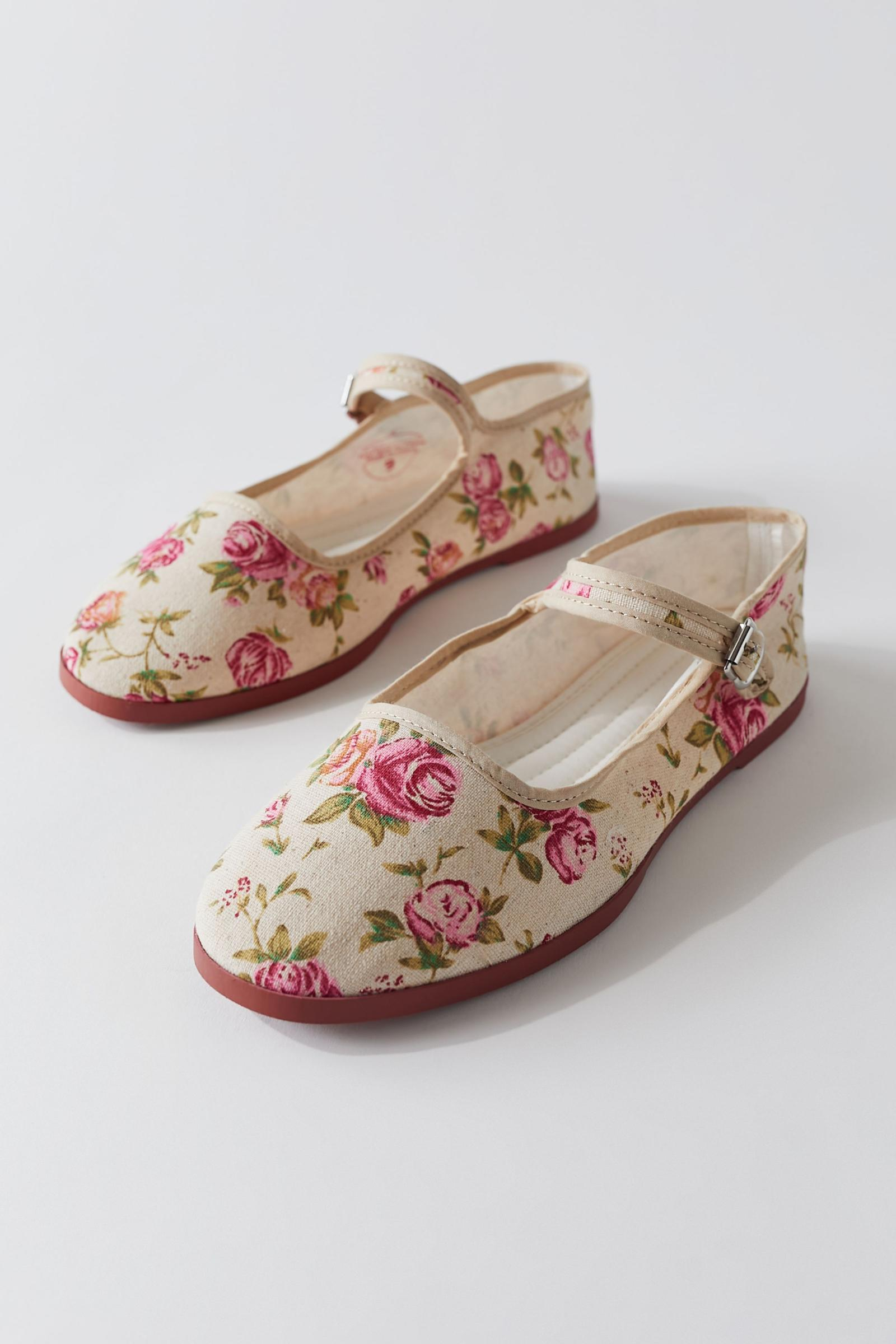 Uo Floral Mary Jane Urban Outfitters New Zealand