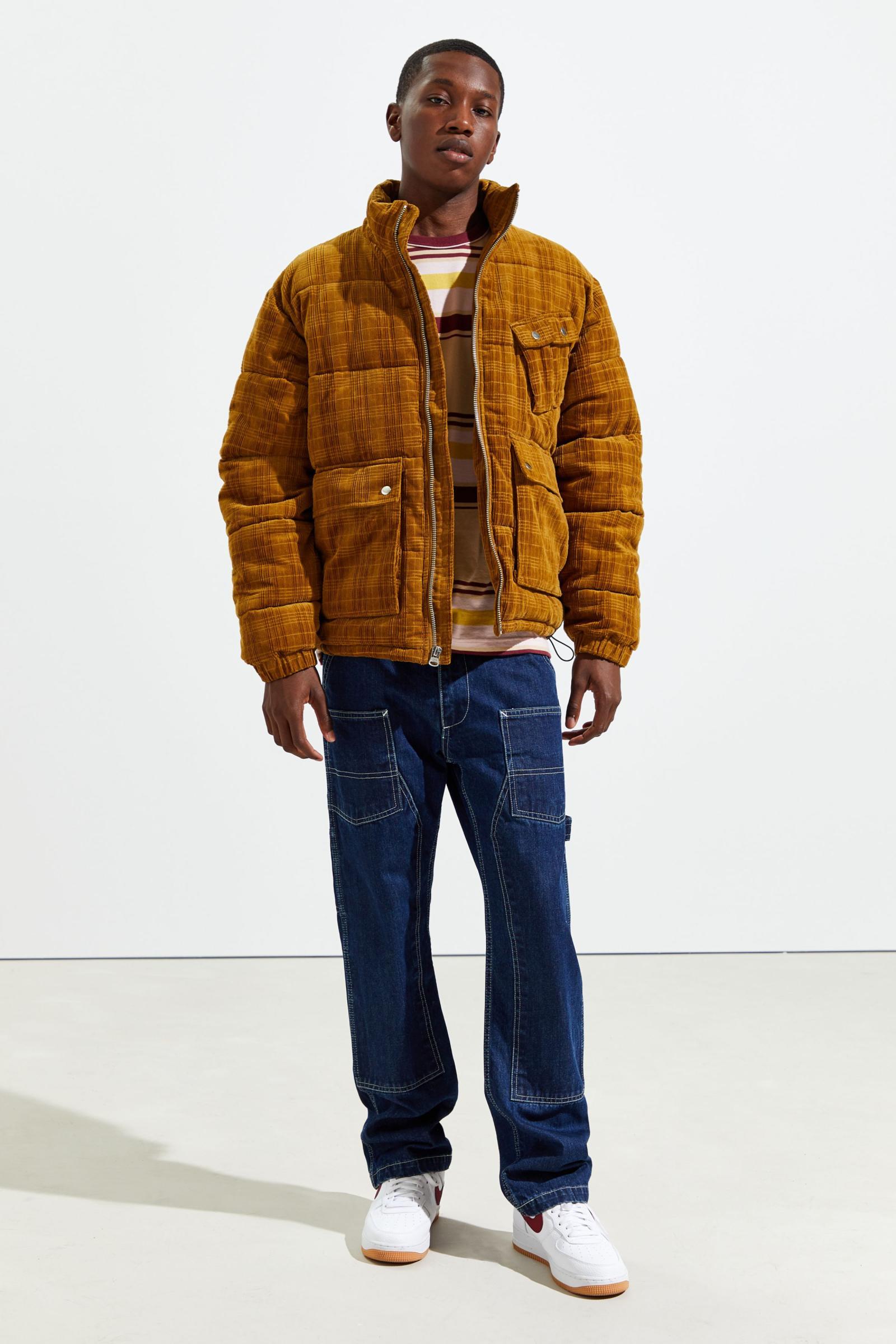 UO Debossed Corduroy Puffer Jacket   어반 아웃피터스 코리아